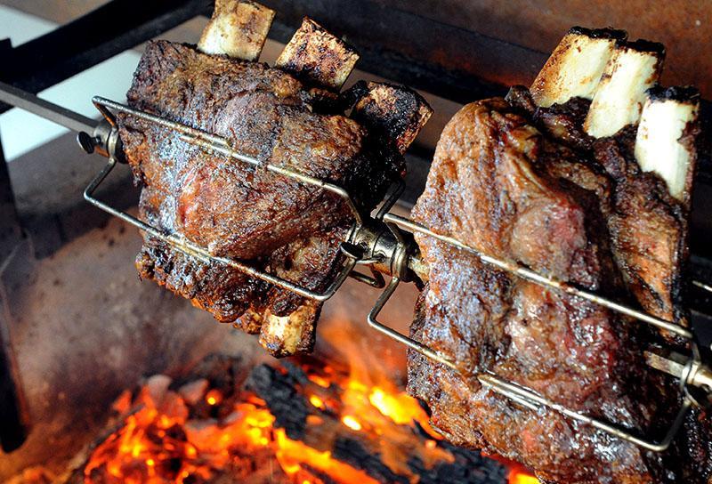 Beef Ribs Roasting on the Kalamazoo Gaucho Grill