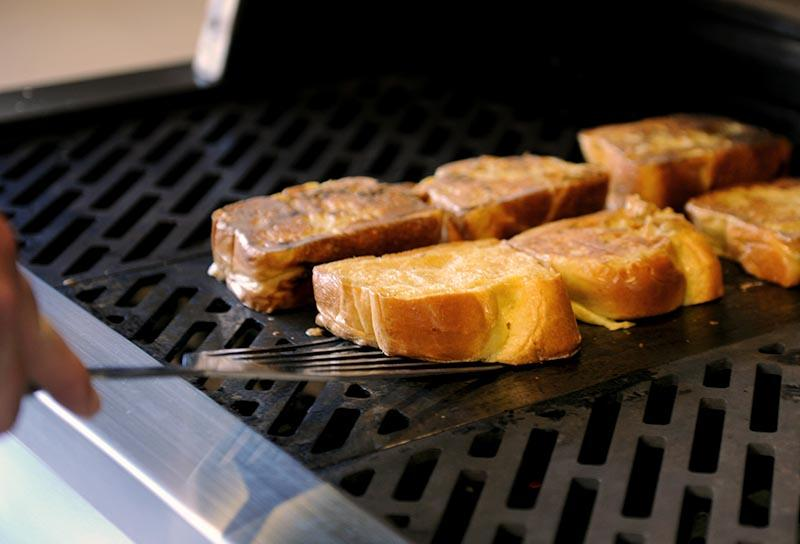 French toast on the Hybrid Fire Grill