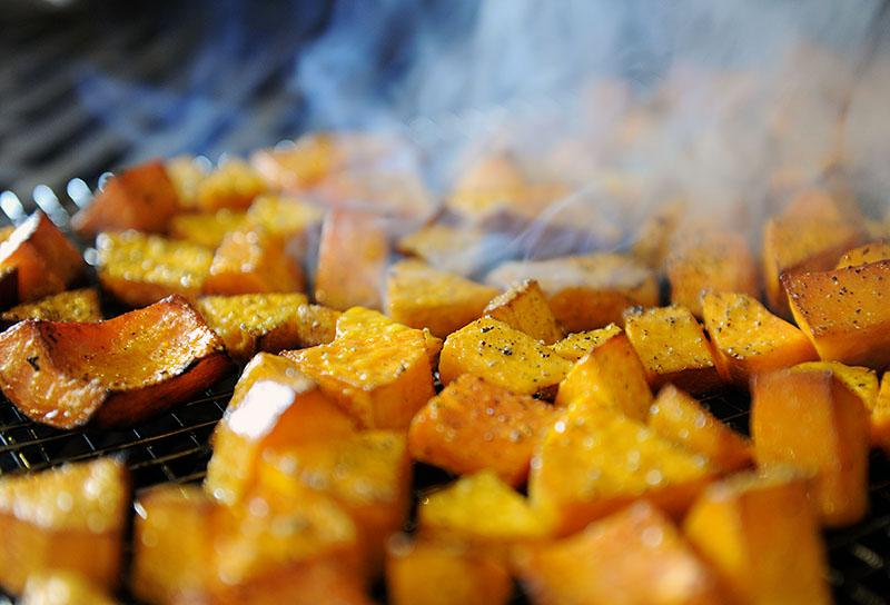Smoke roasted butternut squash