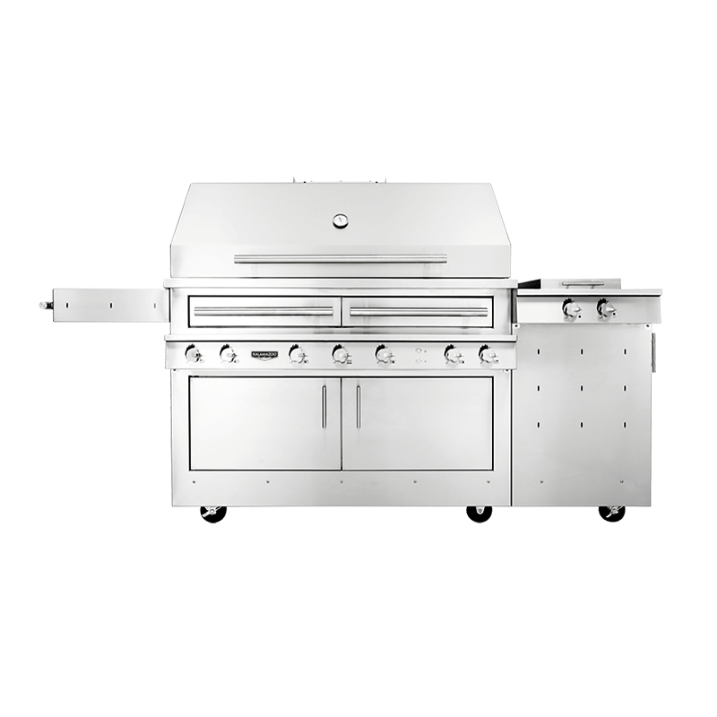 K1000 Freestanding Hybrid Fire Grill with Side Burner Image