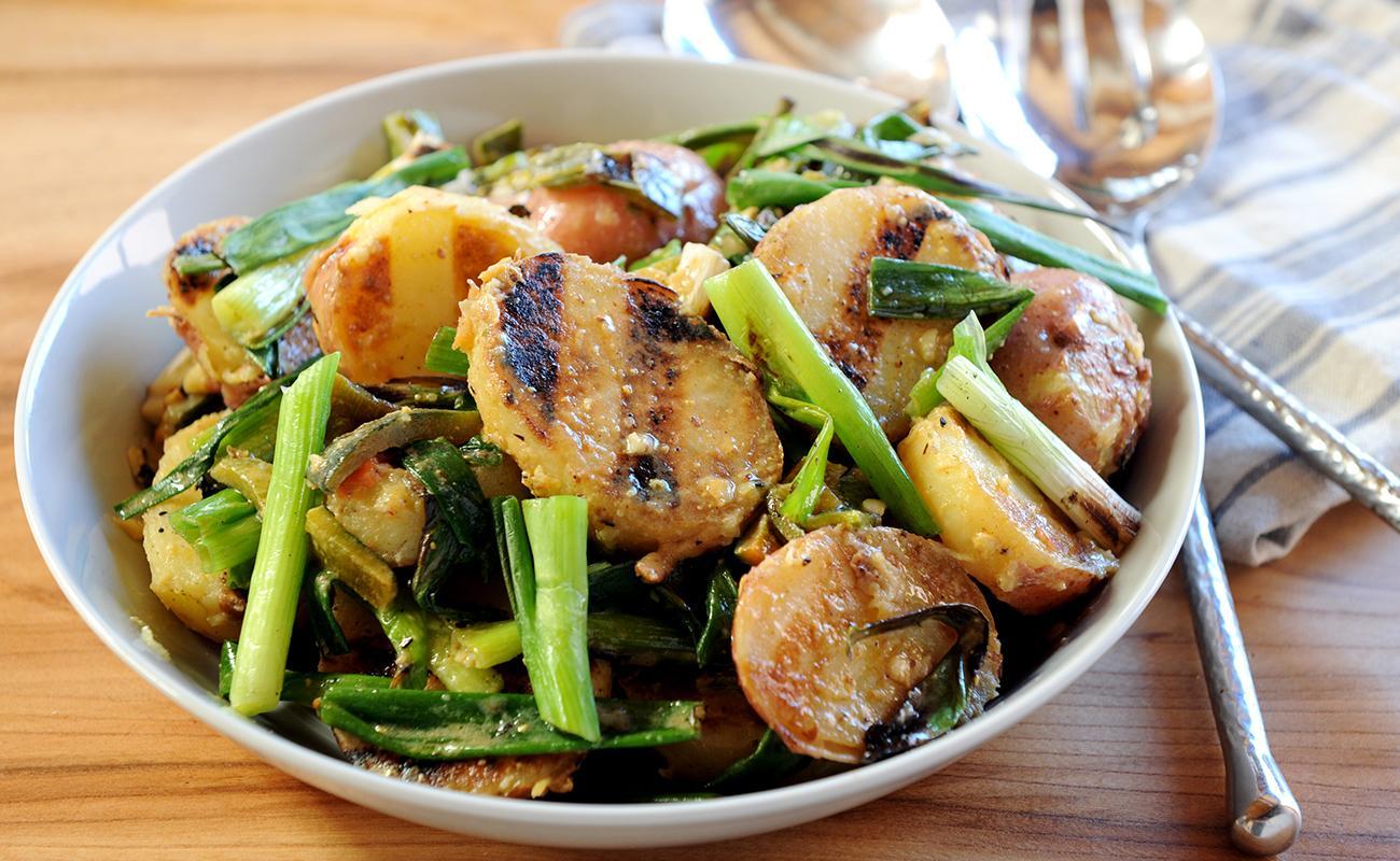 Image of Grilled Scallion Potato Salad