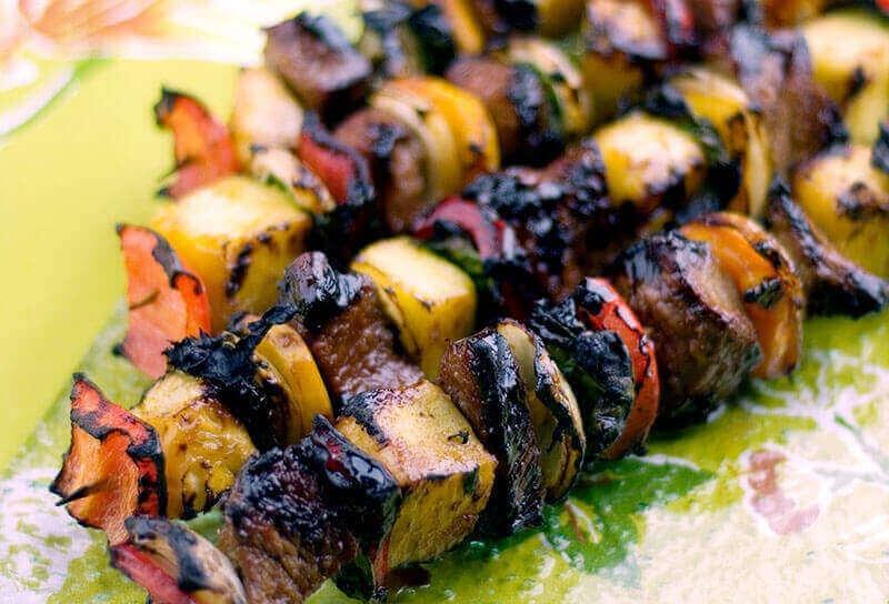 Image of Orange Teriyaki Beef Kebabs