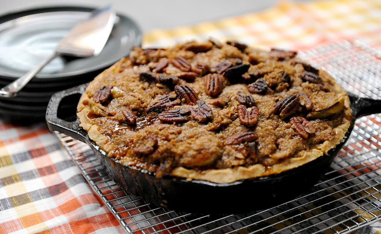 Image of Grill-roasted Caramel Apple Pie