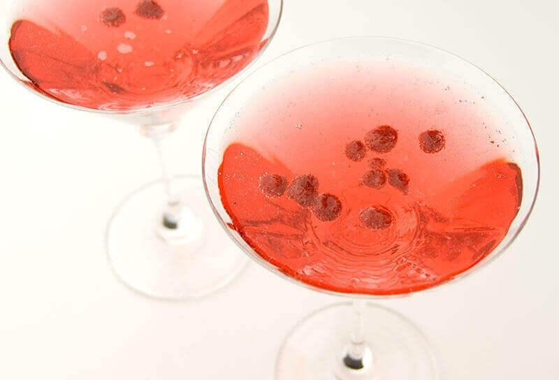 Image of Strawberry Valentine Martinis