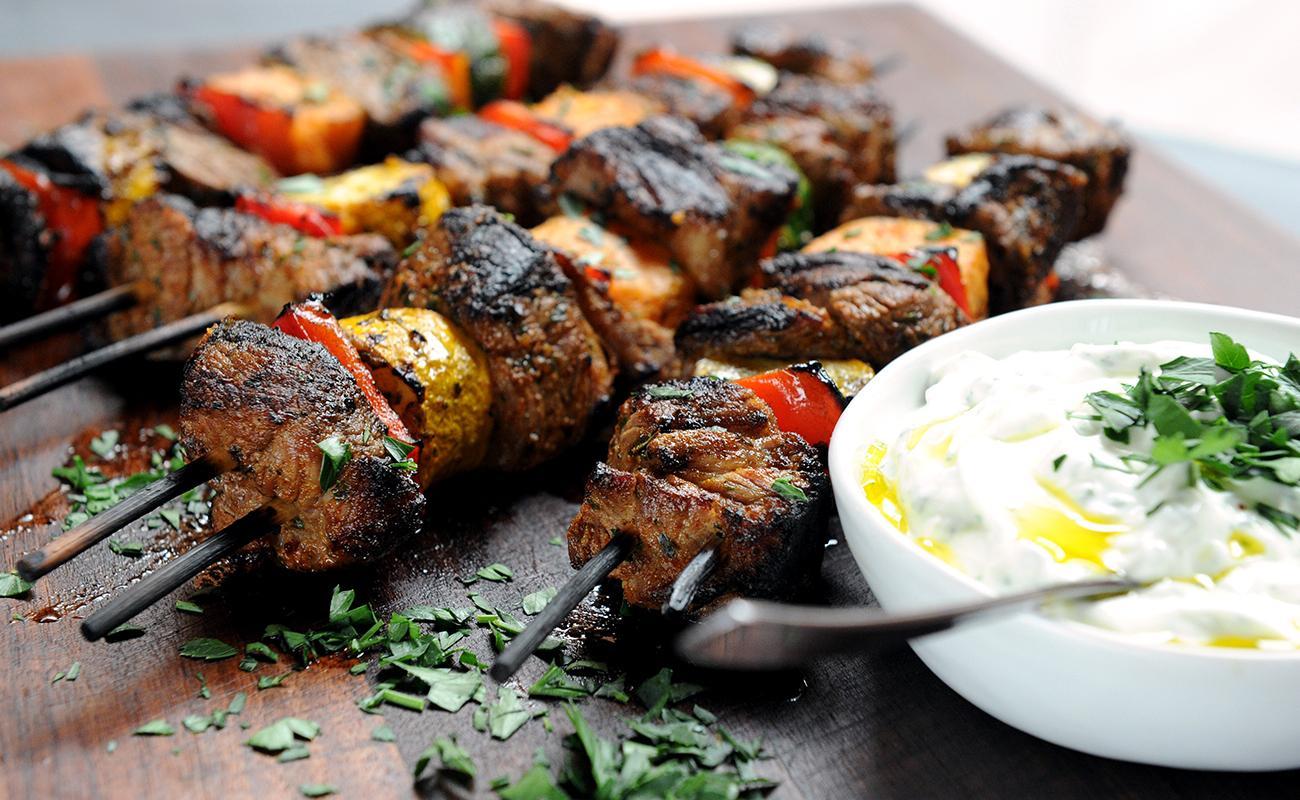 Image of Harissa-marinated Lamb Kebabs