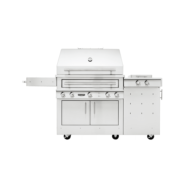 K750 Freestanding Hybrid Fire Grill with Side Burner Image