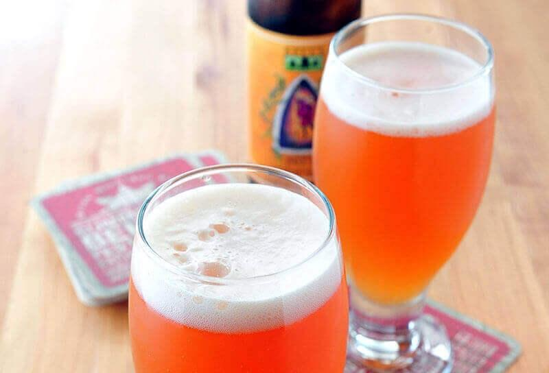 Image of Cherry Peach Pale Ale Beer Cocktail