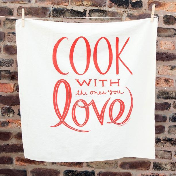 Cook with Love Nourishing Notes Towel