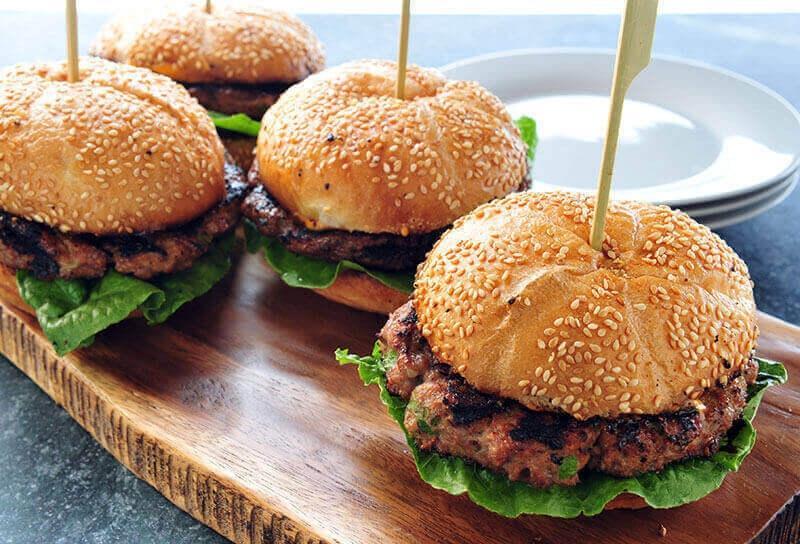 Image of Asian Tuna Burgers with Sriracha Mayo