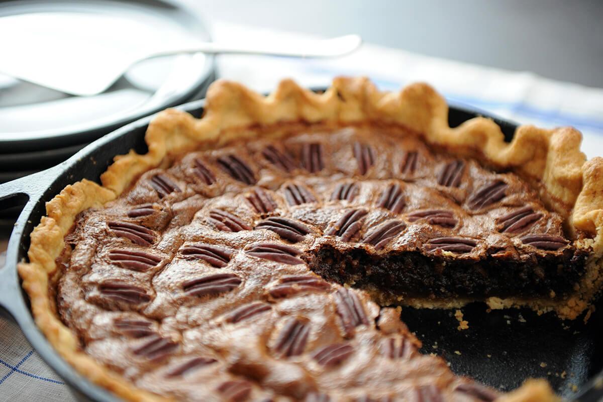 Image of Smoked Chocolate Pecan Pie