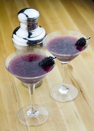 Image of Blackberry Ginger Martinis