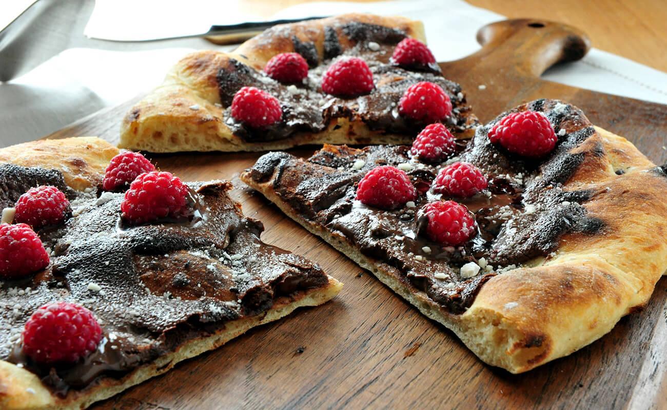 Image of Chocolate Hazelnut Raspberry Pizza