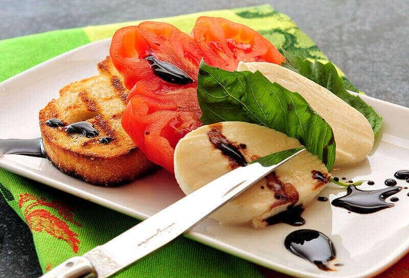 Image of Caprese Salad with Grilled Tuscan Bread
