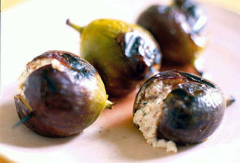 Image of Grilled Feta-Stuffed Figs