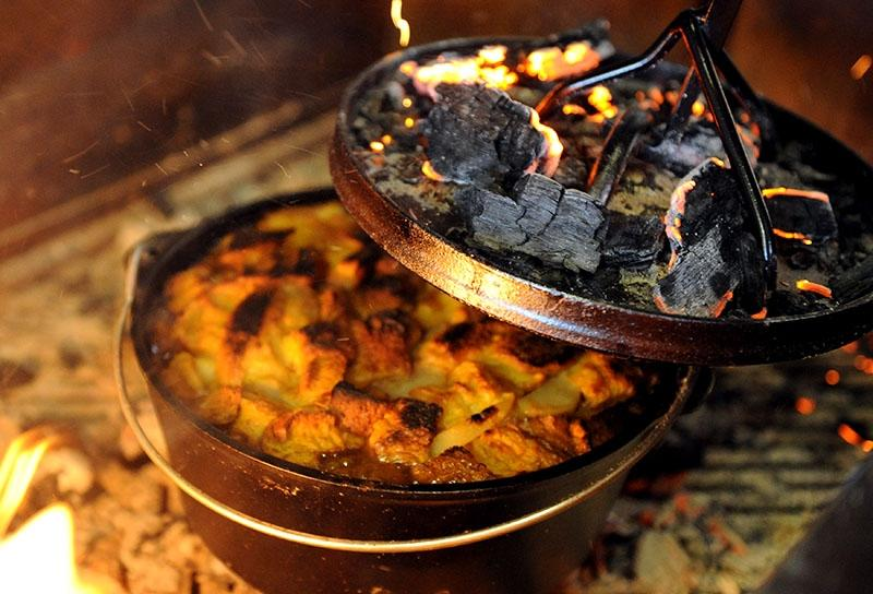 Image of Campfire Harvest Bread Pudding