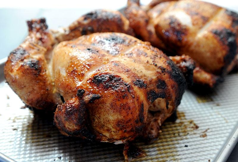 Image of Barbecue-rubbed Wood-fired Rotisserie Chicken