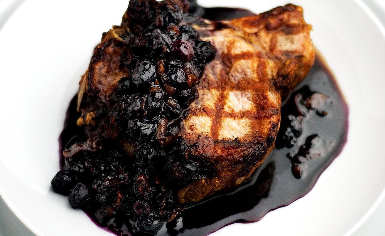 Image of Blueberry Pork Chops