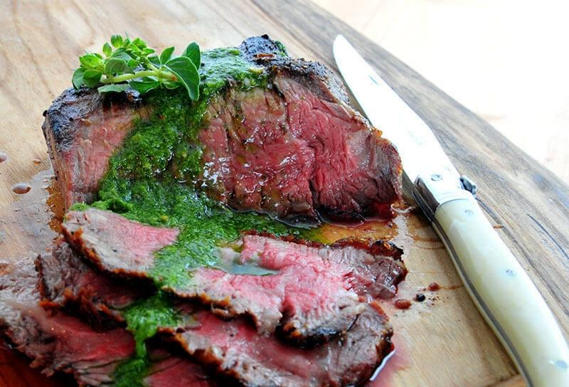 Image of Rib Cap Steaks with Chimichurri