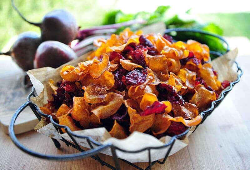 Image of Homemade Sweet Potato and Beet Chips