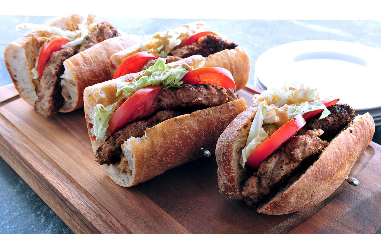 Image of Blackened Tuna Burger Po' Boys