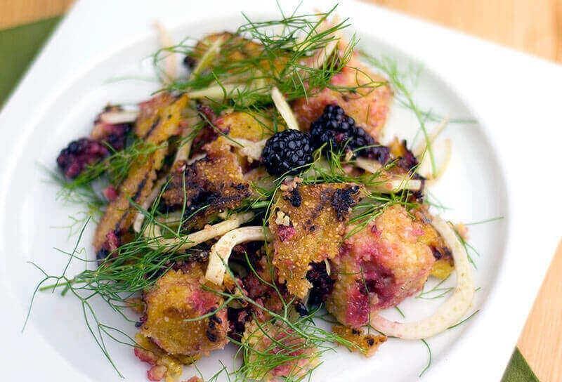 Image of Blackberry Polenta Fennel Salad