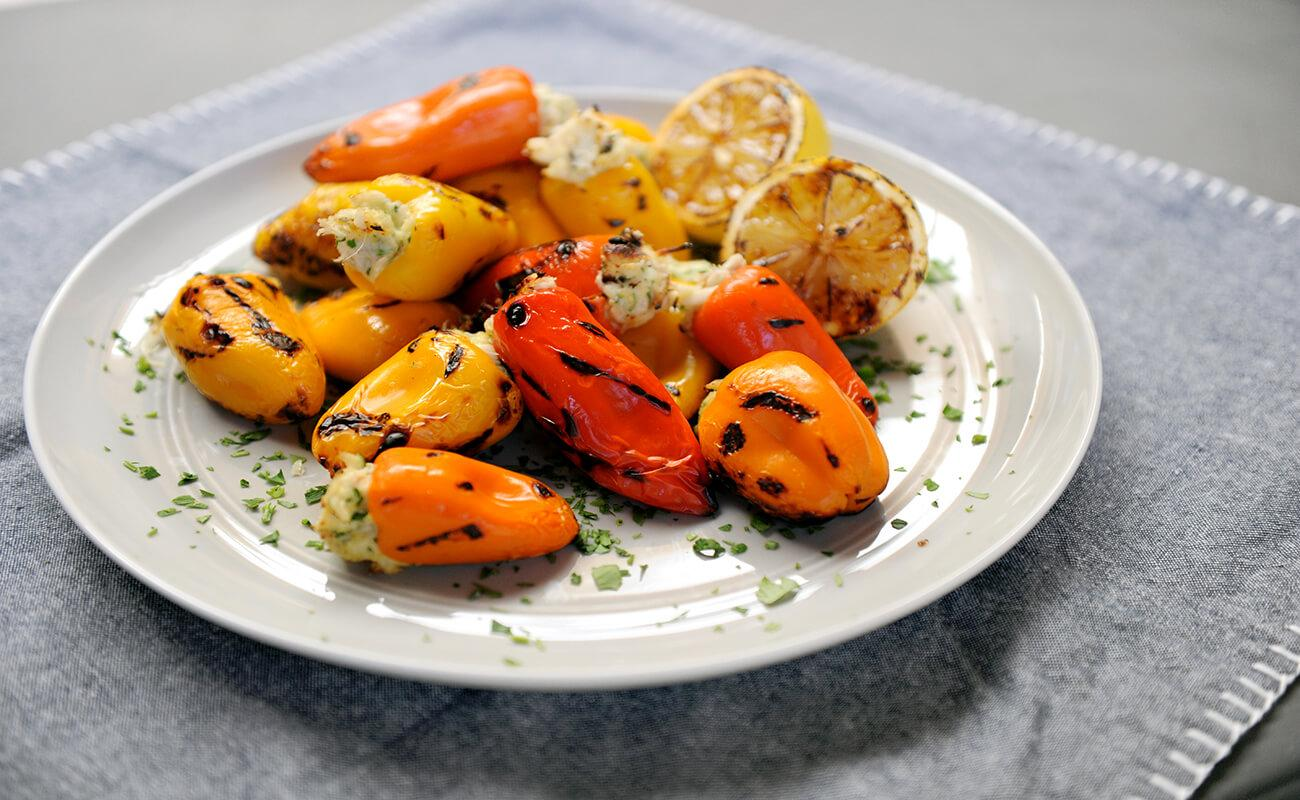 Image of Crab-stuffed Mini Sweet Peppers