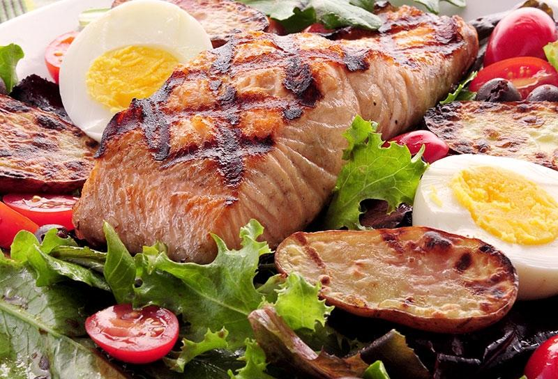 Image of Grilled Salmon Nicoise Salad