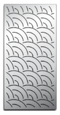 Laser-cut Grill Grate, Fish Pattern Image