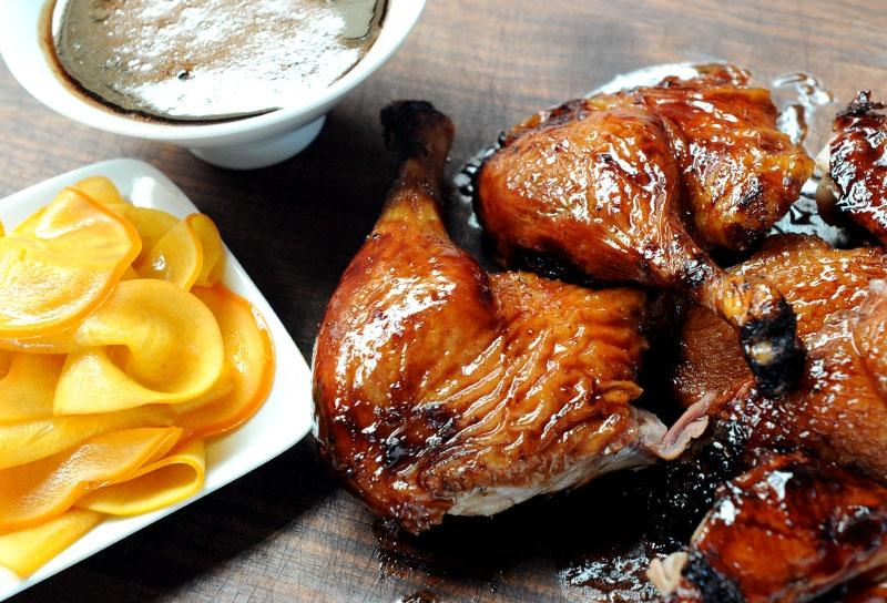 Image of Cherry Porter Glazed Duck with Pickled Persimmons
