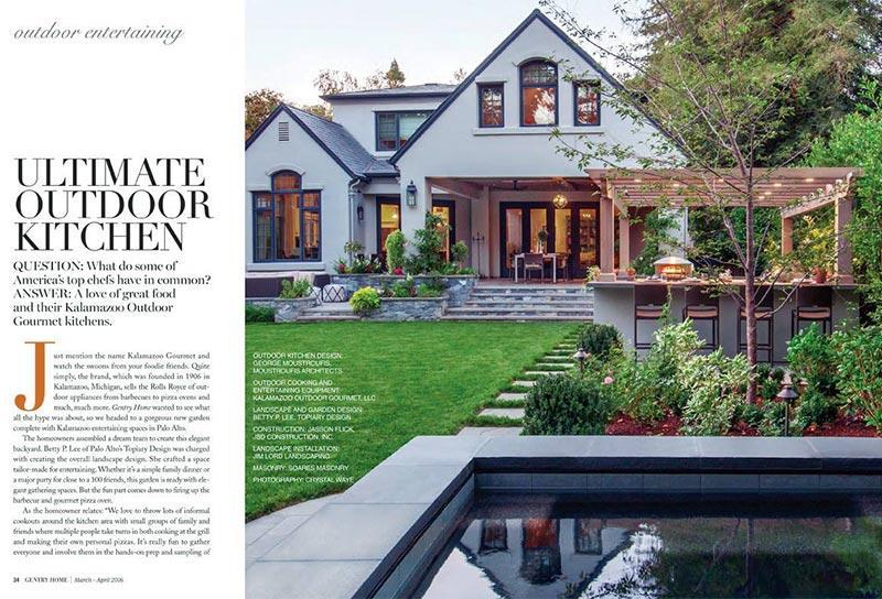 Gentry Magazine Kalamazoo Outdoor Kitchen profile