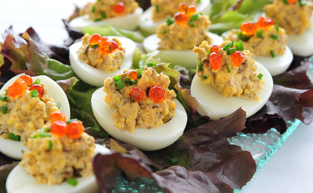 Image of Smoked Oyster Deviled Eggs